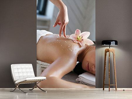 Wandbespannung Spa Massage