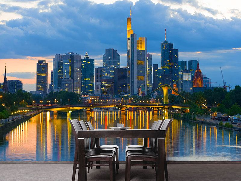 Wandbespannung Skyline Frankfurt am Main