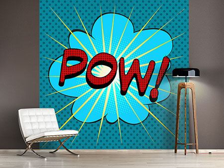 Wandbespannung Pop Art Pow