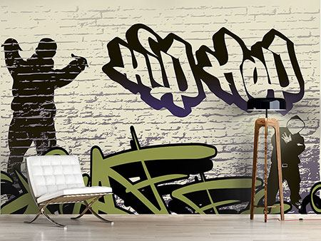 Wandbespannung Graffiti Hip Hop