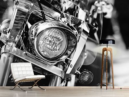 Wandbespannung Motorrad Close Up